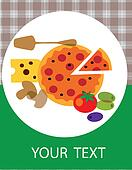 pizza restaurant menu design. vector illustration