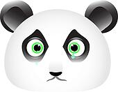 Sad panda face with tears in his eyes