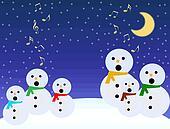 Snowmen sing