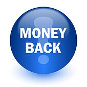 money back computer icon on white background