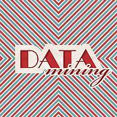 Data Mining Concept in Flat Design.