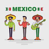 Mexican characters set.