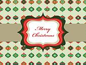 Elegant Christmas background with retro frame