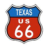 Texas Route US 66 Sign
