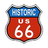 Historic Route US 66 Sign