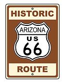 Arizona Historic Route US 66 Sign