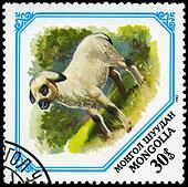 MONGOLIA - CIRCA 1982 Lamb