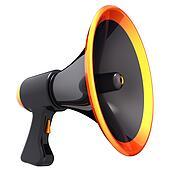 Black megaphone (Hi-Res)