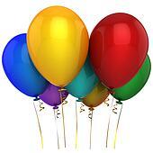 Helium multicolor balloons (Hi-Res)