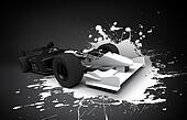 formula one car splash