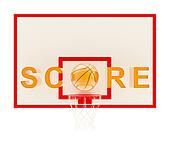 Word Score basketball composition