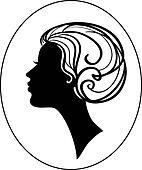 Hair beauty vector icon