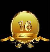 16th anniversary birthday seal