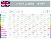 2014 English Planner-2 Calendar wit
