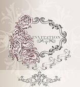 Elegant wedding  invitation card for design
