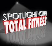 Spotlight on Total Fitness 3d Words Healthy Lifestyle