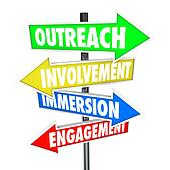 Outreach Involvement Immersion Engagement Participation Signs