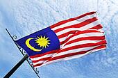 Malaysian flag flying