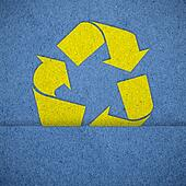 Recycle sign paper texture