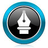 pen glossy icon