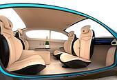 Luxury car interior concept