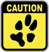 sign with paw print - no pets