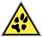 sign with a paw print
