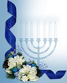 Hanukkah ribbons border
