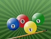 2011 billiard  balls