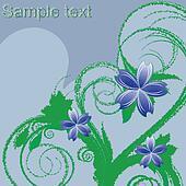 flowers foliage composition