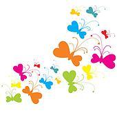 CMY(K) butterflies