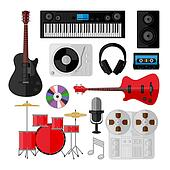 Set of music and sound objects