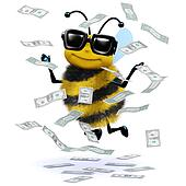 3d Honey bee has a windfall of cash