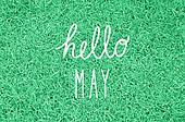 Hello May greeting