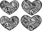 paisley style artistic heart