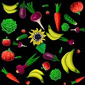 plasticine vegetables background