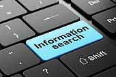Information concept: Information Search on computer keyboard background