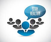 stay healthy message sign illustration
