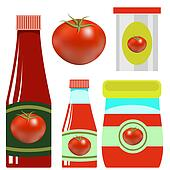 Set opf Tomato Ketchups