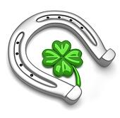 Horseshoe and clover