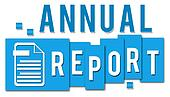 Annual Report Blue Stripes