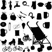 baby buggy and stuff vector