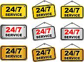24 hour 7 day service sign