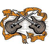 Guitars scrolls