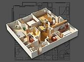 3D Furnished House Interior