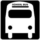 illustration of the front of a school bus