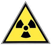 sign with radio active symbol