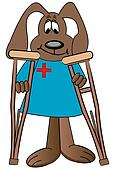 dog cartoon health care professional