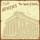 Visit Athens the Land of Gods poster