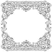 Floral ornament frame